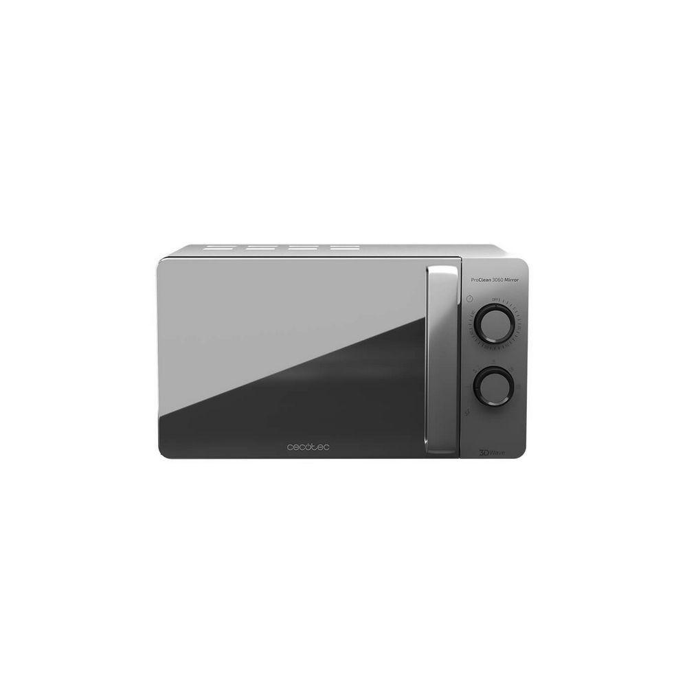 Totalcadeau Micro-ondes à plateau tournant 20 L 700W Argenté - 6 niveaux et Finition Miroir