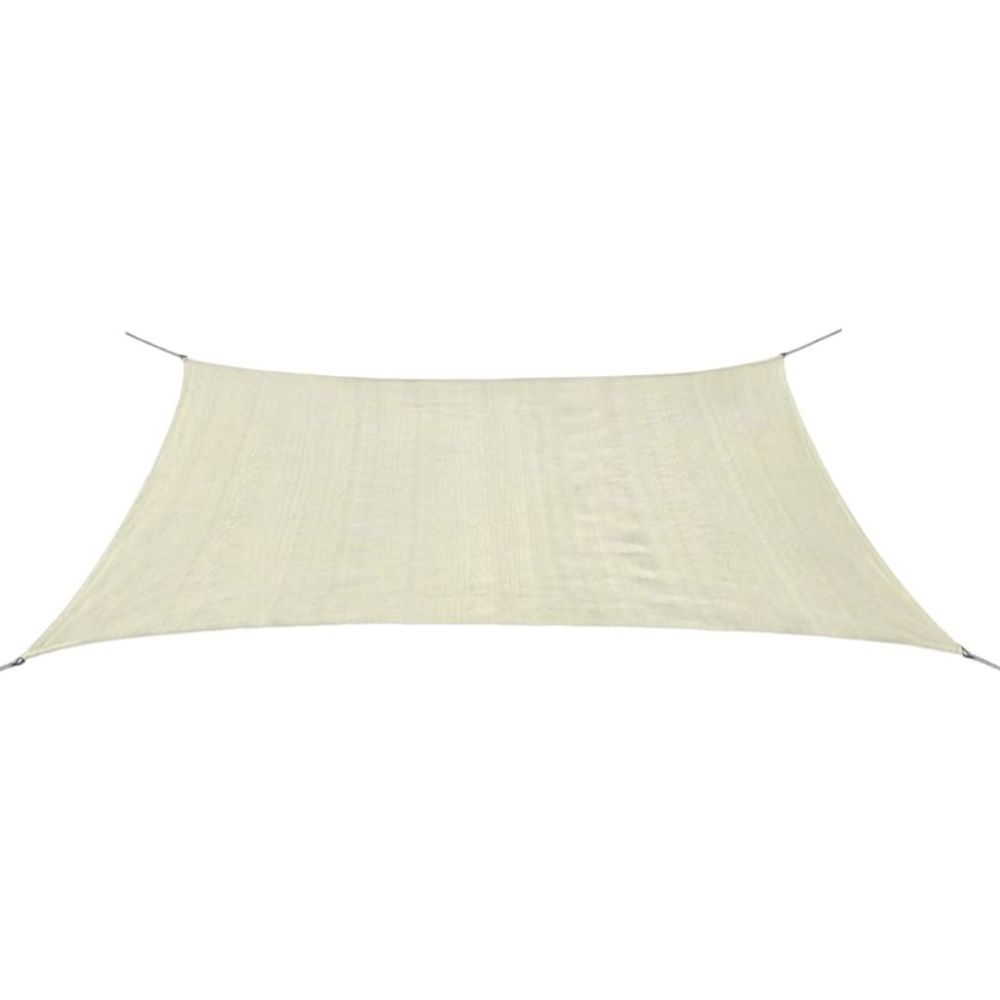 Vidaxl Parasol en PEHD rectangulaire 2x4 m crème   Crème
