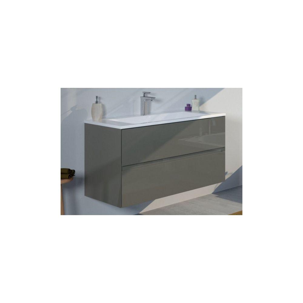 Riho Ensemble meuble & lavabo RIHO ARDEA SET 10 en bois 100x47,5x H 56 cm - Bois laqué brillant