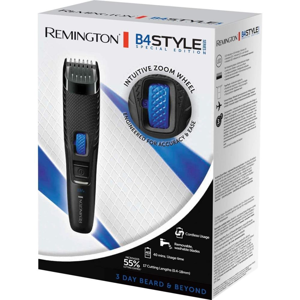 Remington Tondeuse Barbe sans fil avec Lames Acier Auto-Affûtées bleu noir