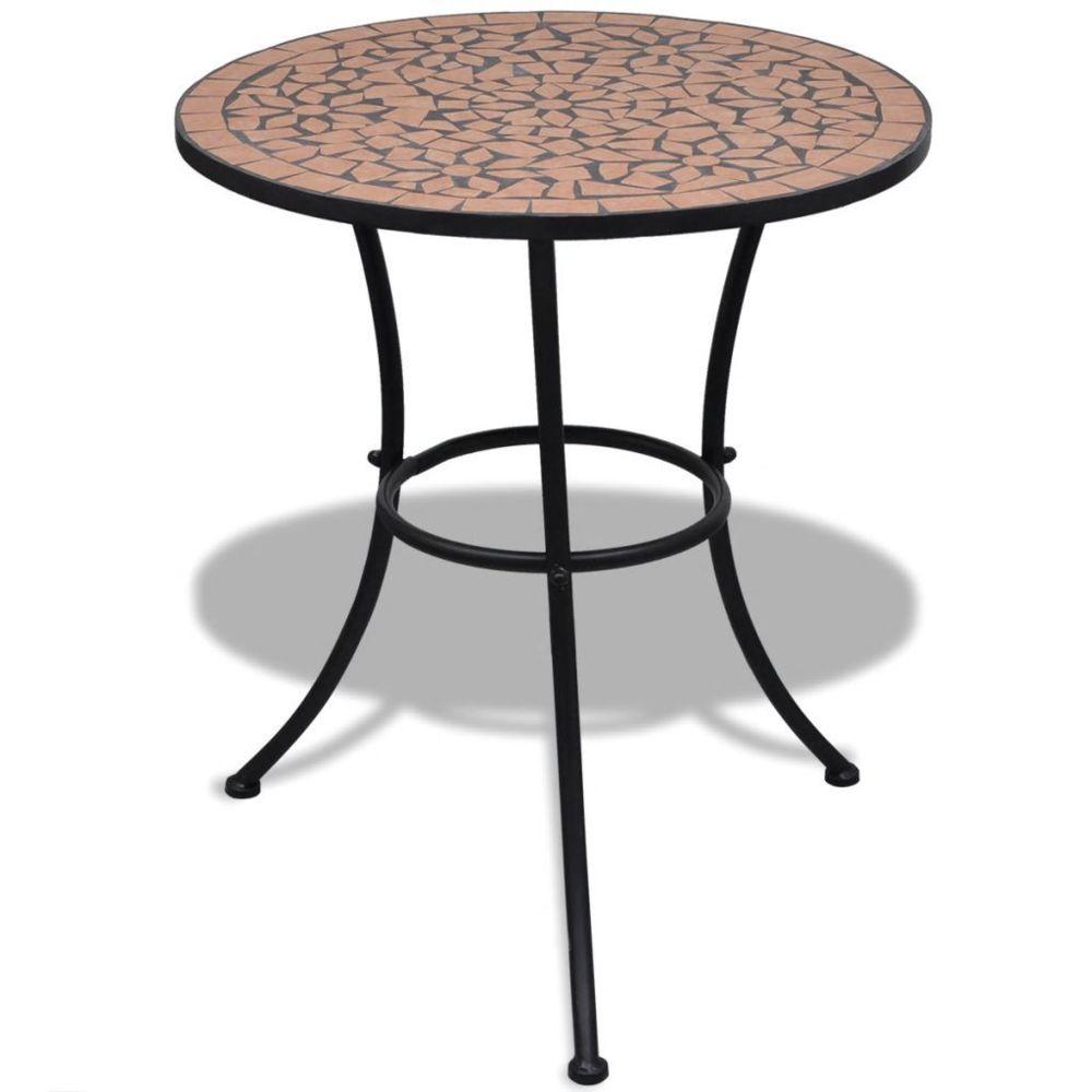 Vidaxl vidaXL Table mosaïque en terre cuite 60 cm