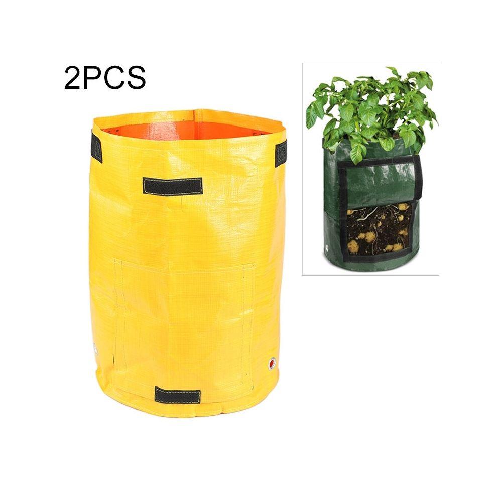 Wewoo 2 PCS 10 gallons de plantation de sacs de PE de de légumes cultiver des de fournitures de jardin de fermetaille 35cm x 4