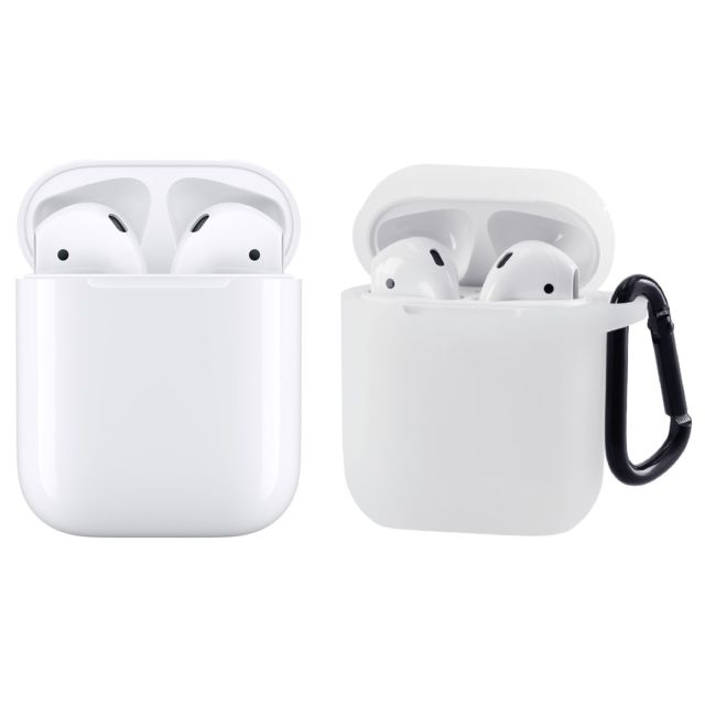 Apple -AirPods 2 + Coque de protection transparente Apple  - Casque audio