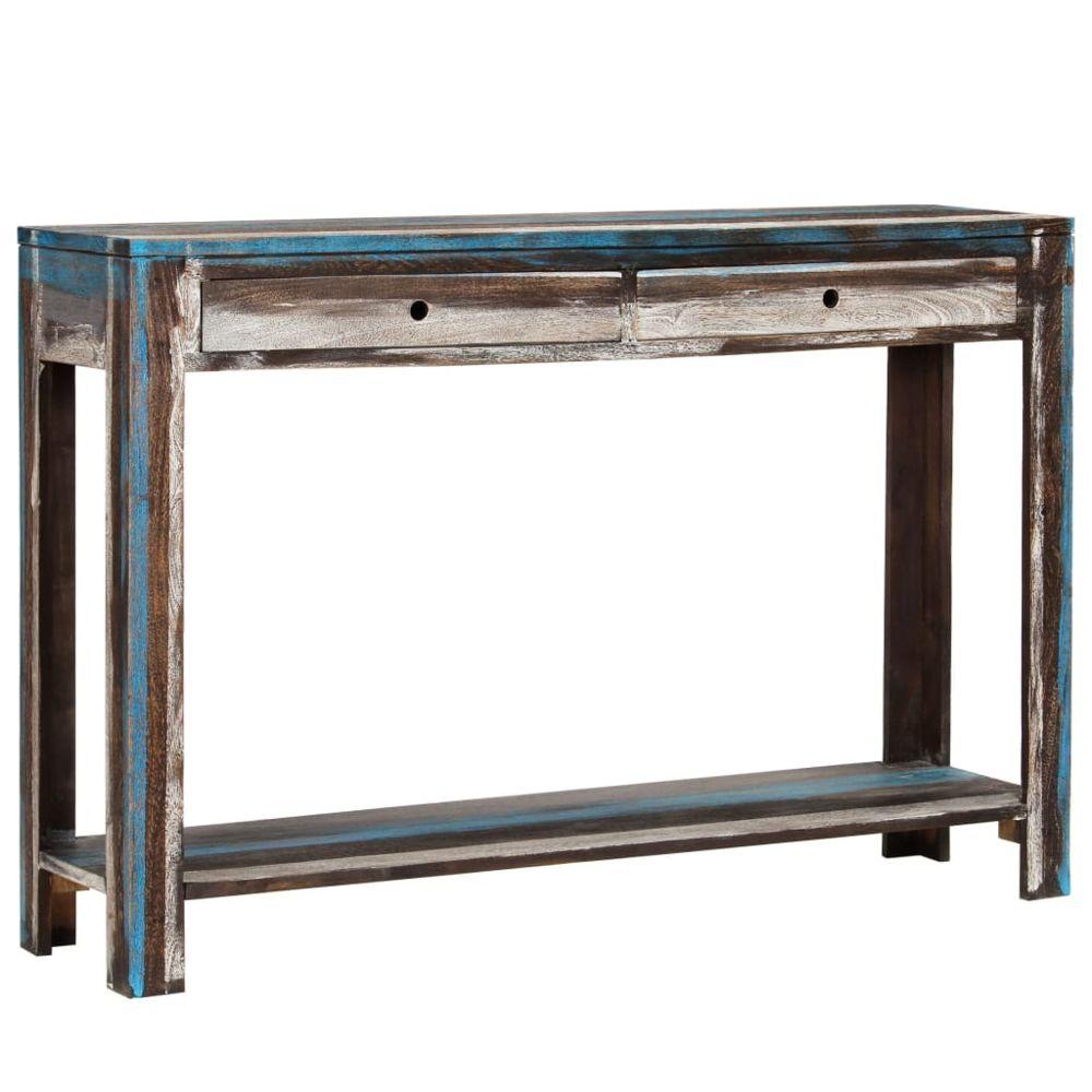 Vidaxl vidaXL Table console Bois massif Vintage 118 x 30 x 80 cm