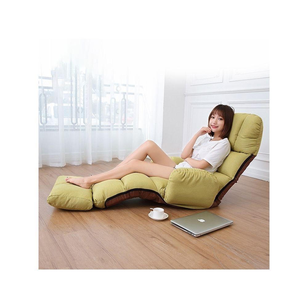 Wewoo C5 Lazy Canapé-lit Chambre Accoudoir de loisirs Inclinable Canapé simple Vert
