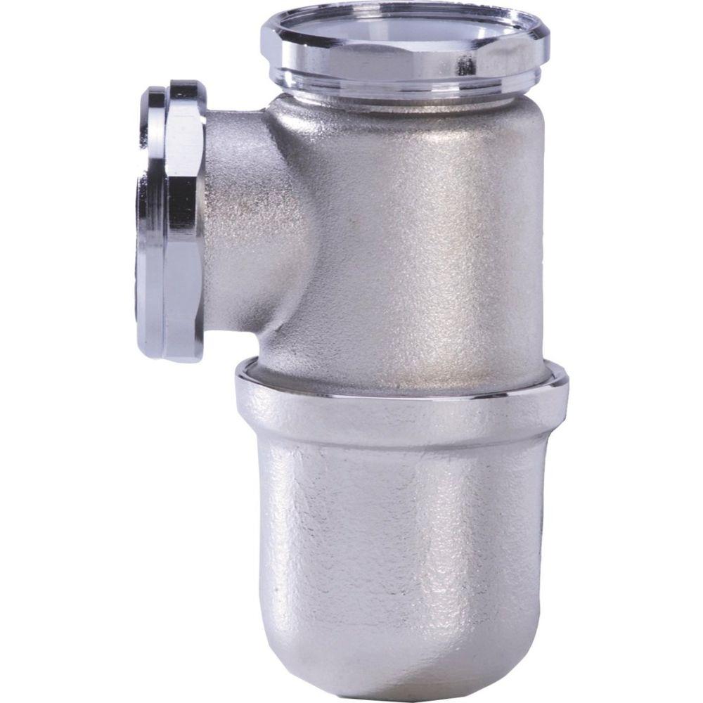 Nicoll siphon de lavabo - 33 x 42 mm - laiton chrome mat - l2211 - nicoll 0501012