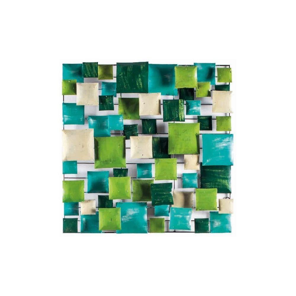 Meubletmoi Décoration murale vert/turquoise 100 cm - GREEN BOARD /XL