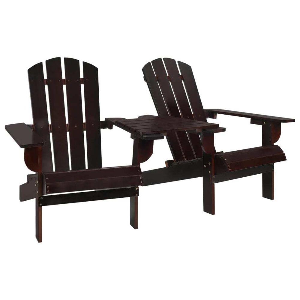 Vidaxl vidaXL Chaise de jardin Adirondack Bois de sapin massif Marron