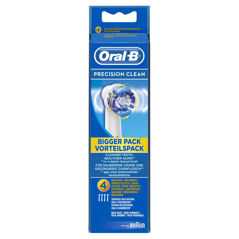 Oral-B Oral-B Brossettes de rechange pour brosse à dents électrique Precision Clean EB20 - pack de 4