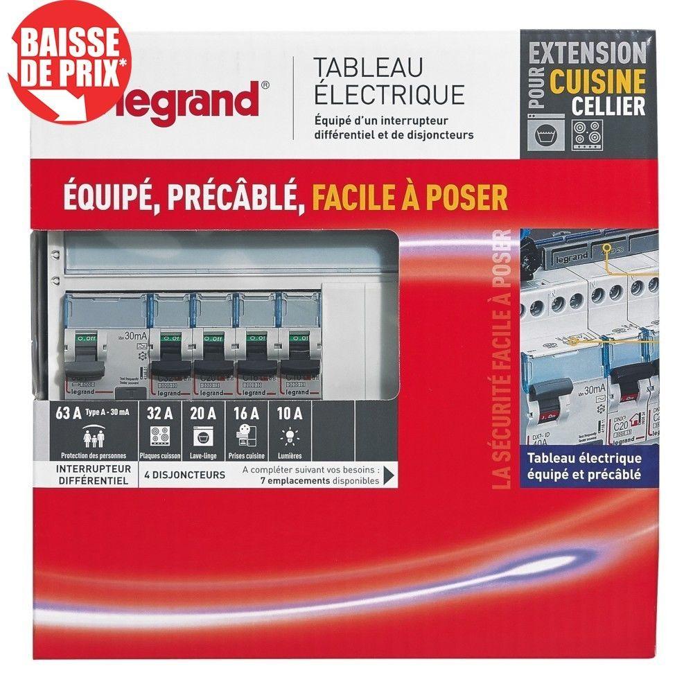 Legrand Tableau Électrique Équipé LEGRAND Spécial pour Extension Cuisine/Cellier