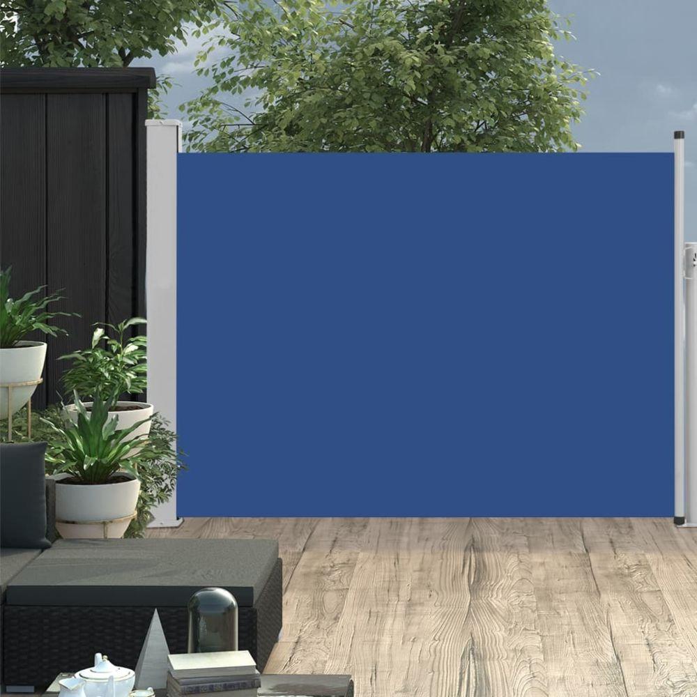 Vidaxl vidaXL Auvent latéral rétractable de patio 120x500 cm Bleu