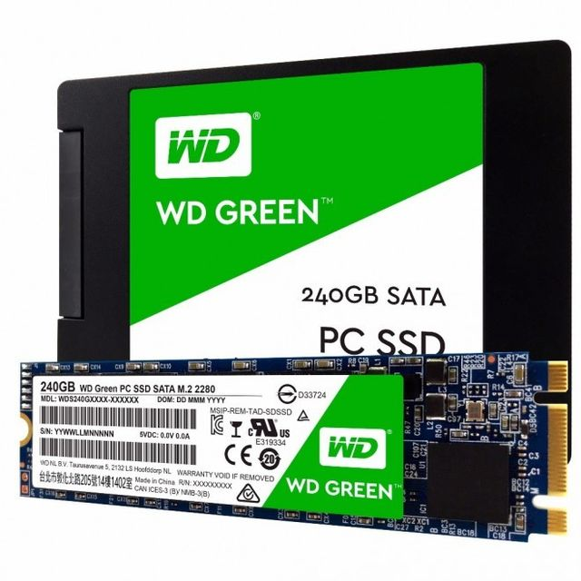 "SSD Interne Western Digital SSD interne WD Green 240 Go 2,5""""  7mm cased SATA III 6 Gbits/s"
