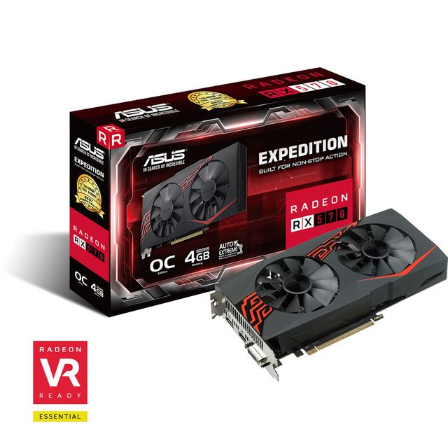 Carte Graphique AMD Asus Radeon RX 570 - ROG STRIX OC