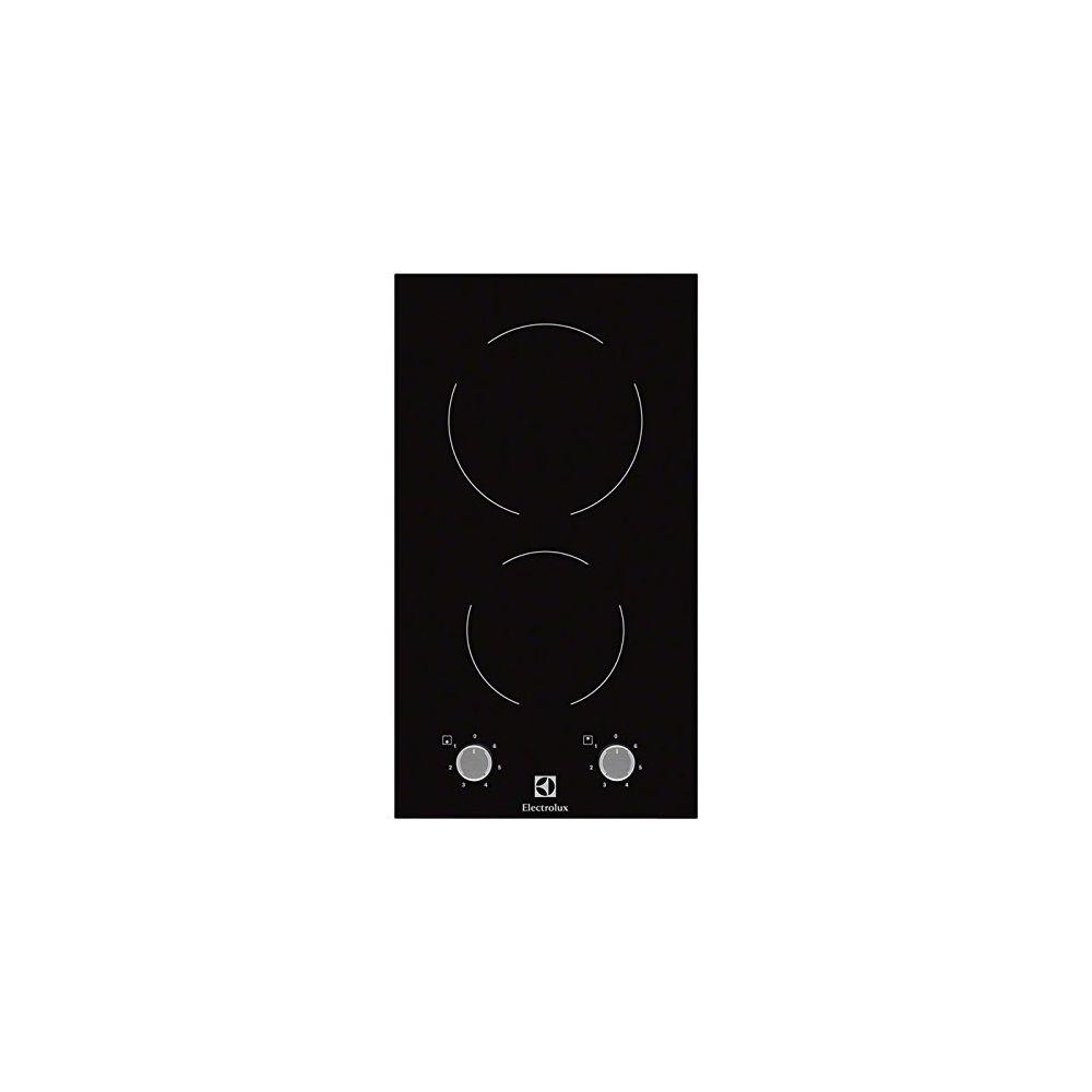 Electrolux Electrolux EHF3920BOK - plaques (Intégré, Céramique, Verre, Noir, Acier inoxydable, Rotatif, En haut devant)