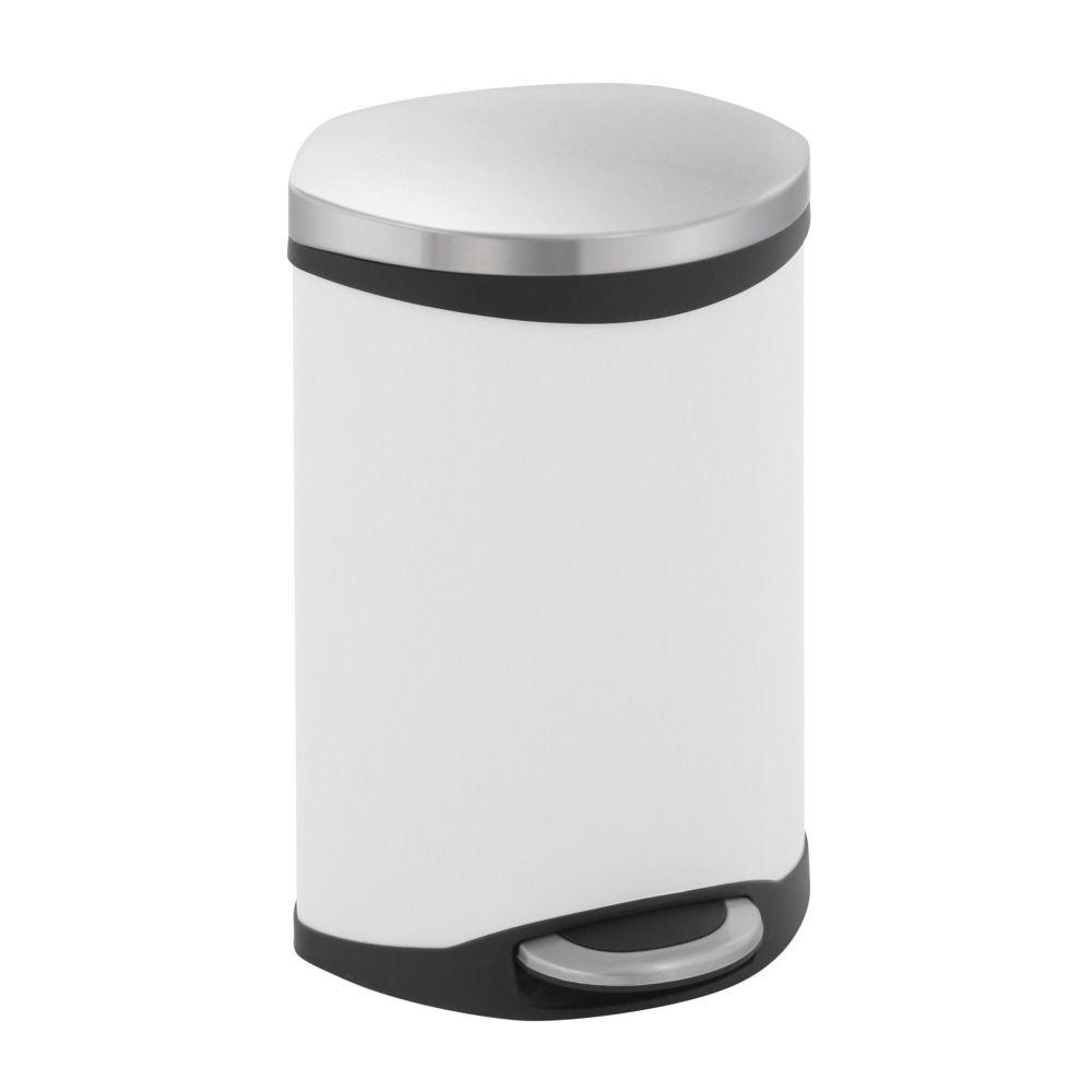 Eko Poubelle Shell Bin 10L Blanc, EKO