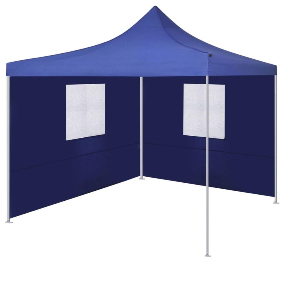 Vidaxl vidaXL Tente Pliable avec 2 Parois Bleu Pavillon Terrasse Tonnelle de Jardin