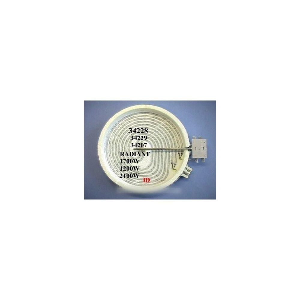 Divers Marques Plaque radiant 2100 w 230 v dia 205 m/m pour table de cuisson constructeurs divers