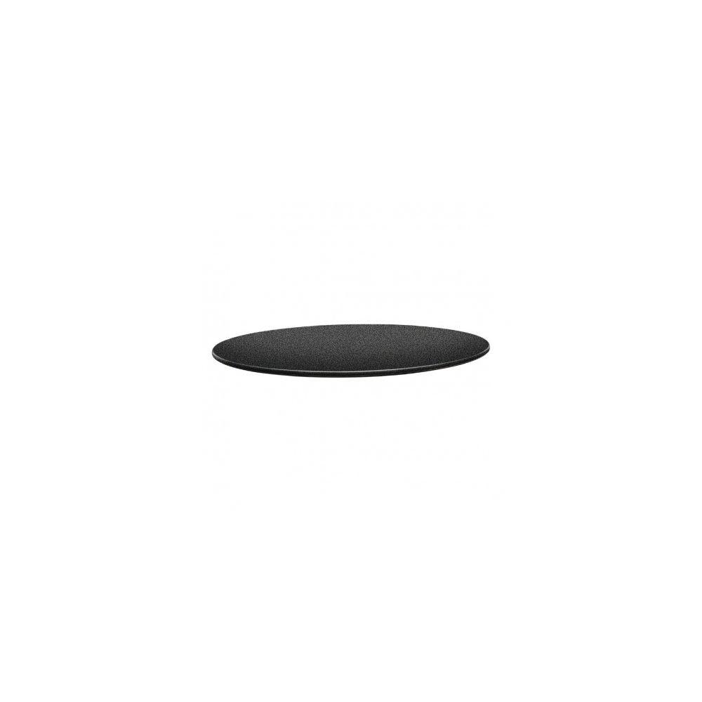 Topalit Plateau de table rond 80 cm gris anthracite - Topalit -