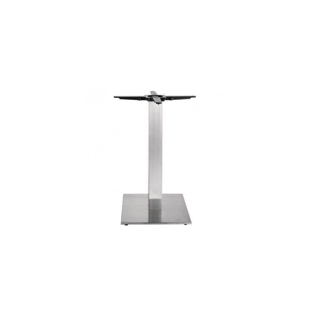 Materiel Chr Pro Pied de table carré inox pour plateau rond jusqu'à 800 - Bolero - Inox