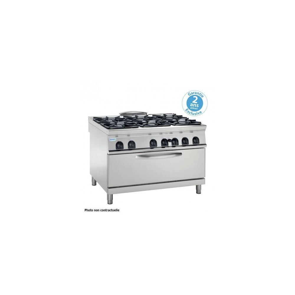Materiel Chr Pro Fourneau avec four gaz statique extra-large - 6 feux grill (3 kW) - gamme 700 - modules 400 - Tecnoinox -