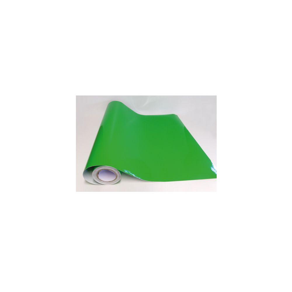 Adzif Biz Rouleau adhésif - Papier peint autocollant - Vert gazon brillant (10 m x 123 cm)