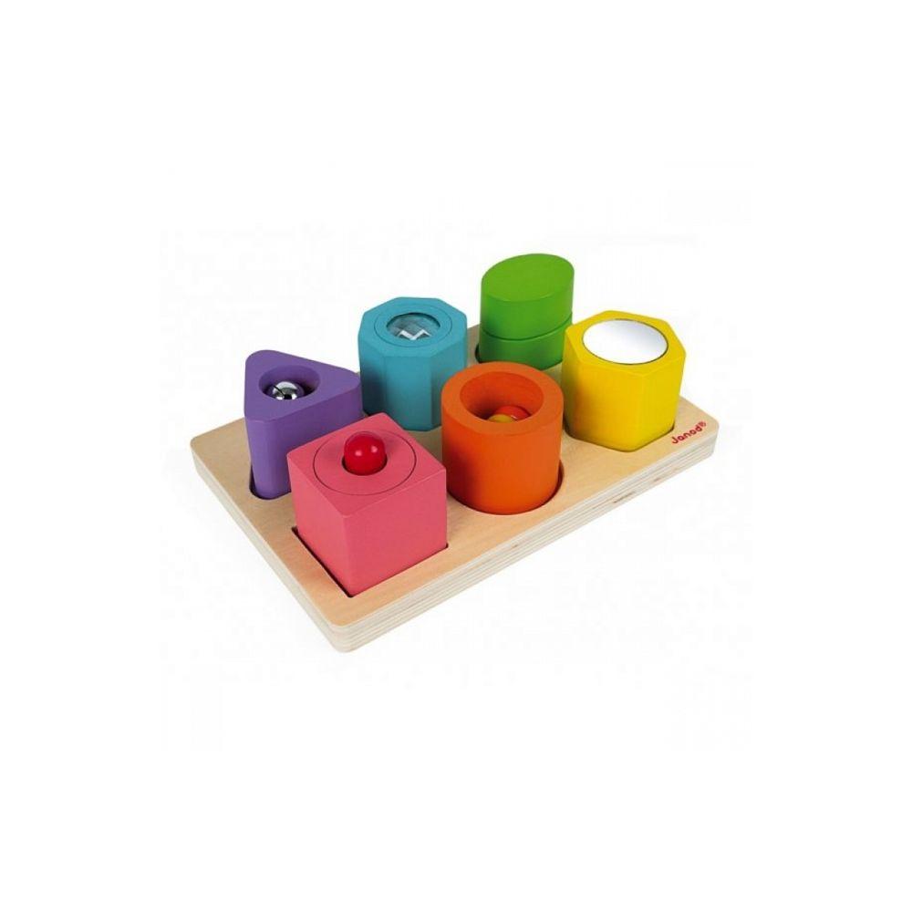 Juratoys-Janod Puzzle 6 cubes sensoriels bois