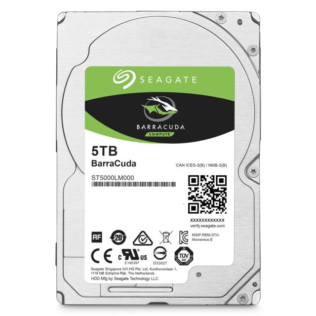 "Seagate - BarraCuda 5 To 2.5"""" SATA III (6 Gb/s) Cache 128 Mo - Disque Dur interne"