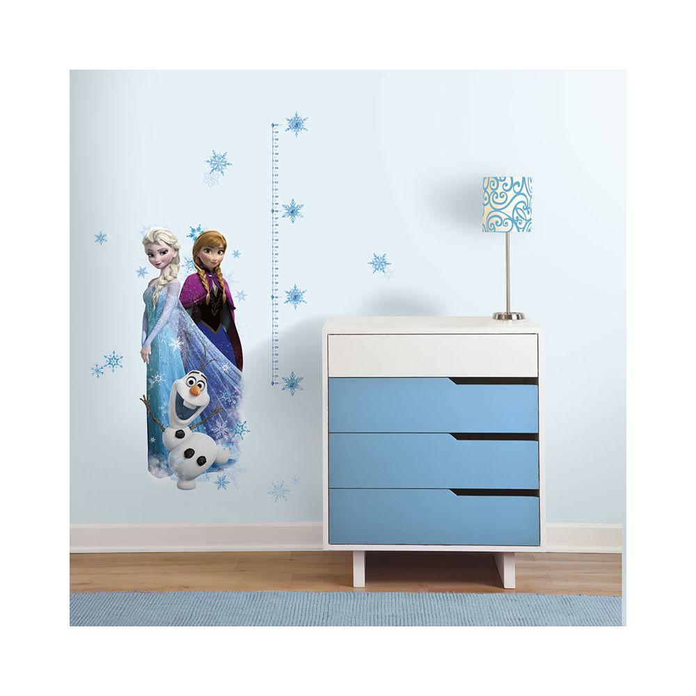 Mon Beau Tapis ELSA, ANNA & OLAF - Stickers repositionnables échelle de mesure taille enfant, la Reine des Neiges