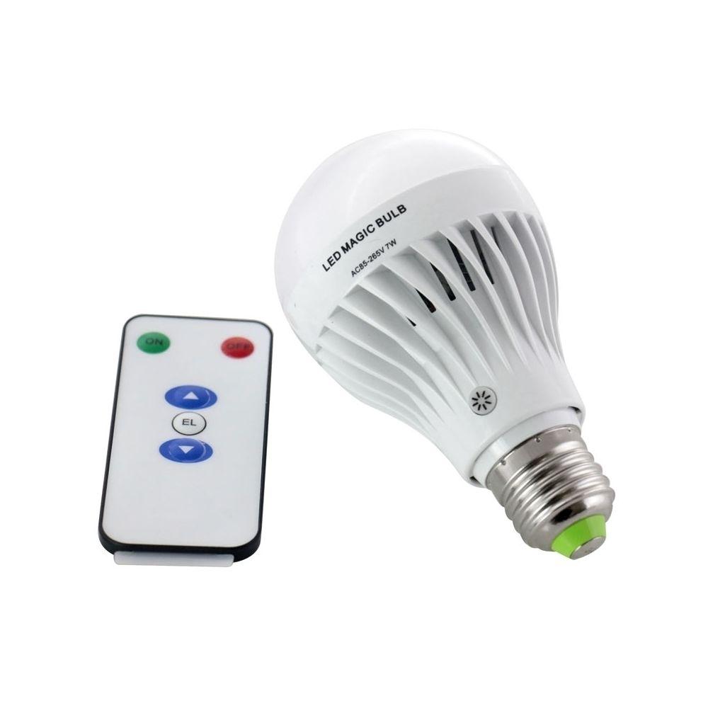Wewoo Ampoule E27 5-7W 30 LED SMD 2835 Rechargeable d'urgence avec télécommande, AC 85V-265V