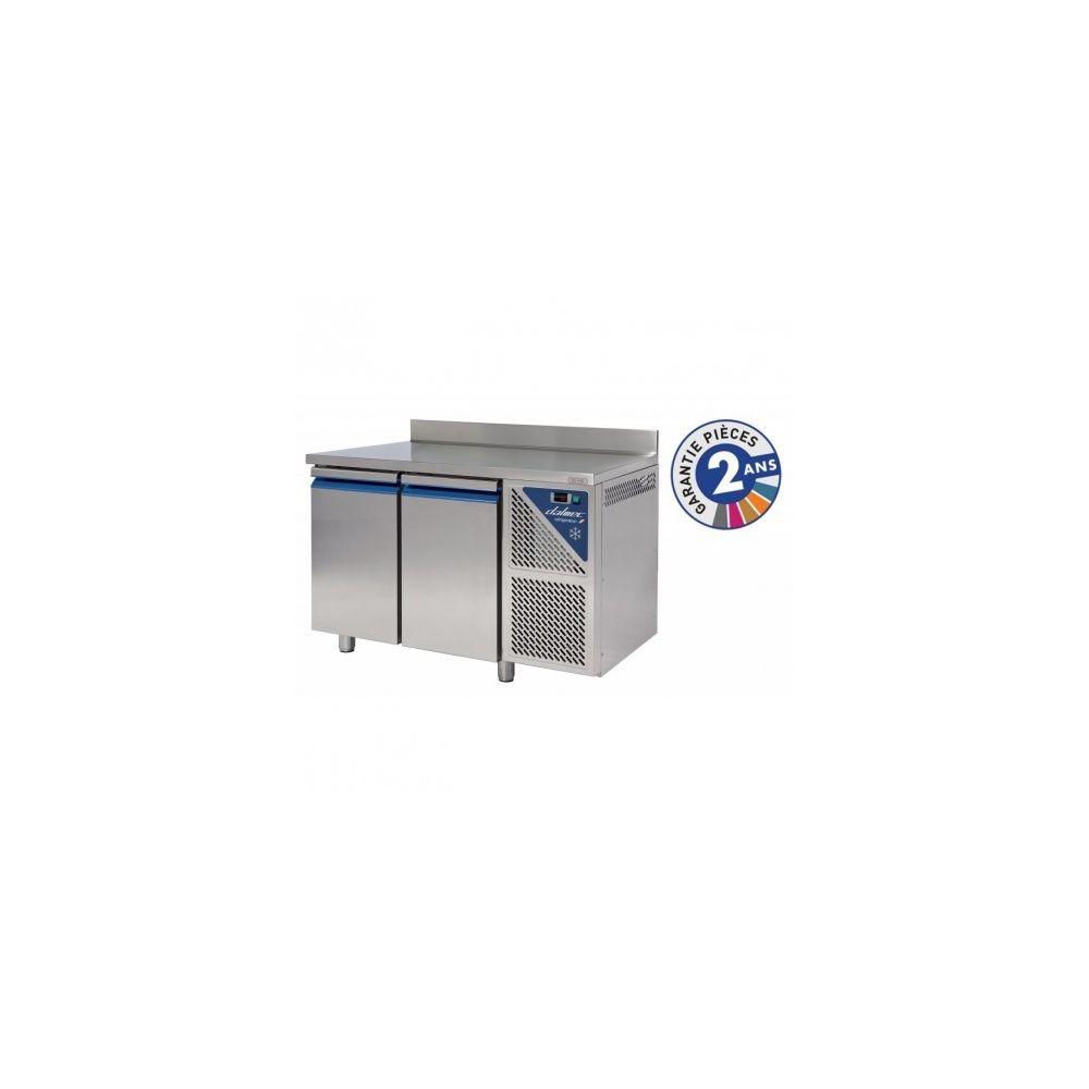 Dalmec Table réfrigérée positive - 2 portes avec dosseret groupe logé - Dalmec - 700