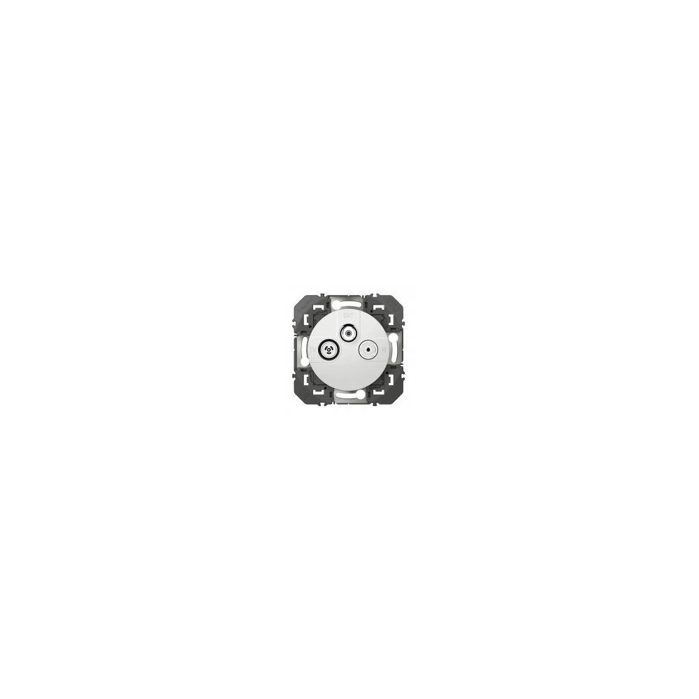 Legrand Prise TV à sorties multiples TV-R-SAT 1 câble Dooxie - Blanc - 600353 - Legrand