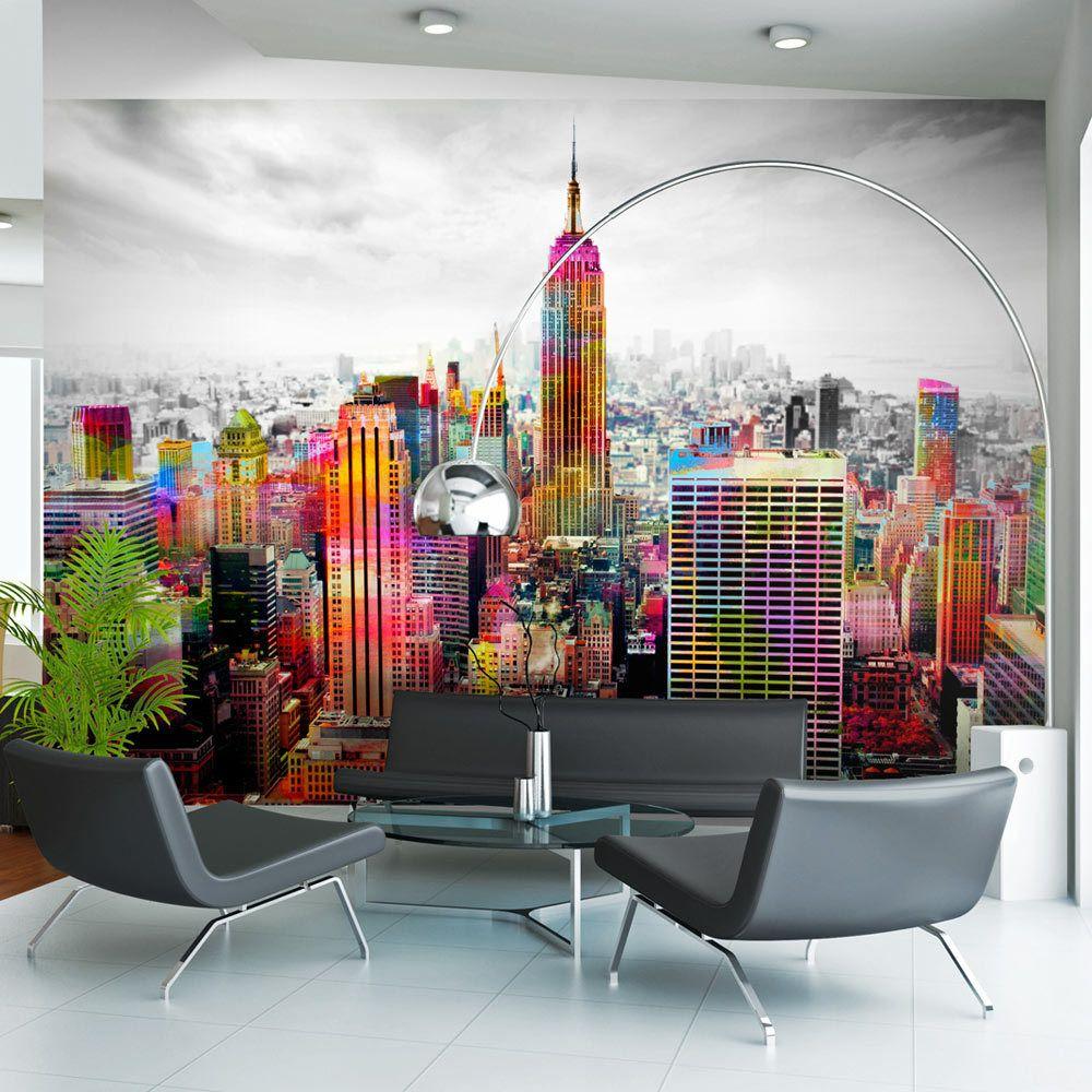 Bimago Papier peint - Colors of New York City II - Décoration, image, art | Ville et Architecture | New York |