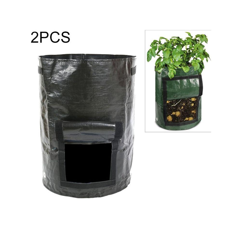 Wewoo 2 PCS 10 gallons à planter des sacs de PE de légumes plantation de cultiver de fournitures de jardin de fermetaille 35cm