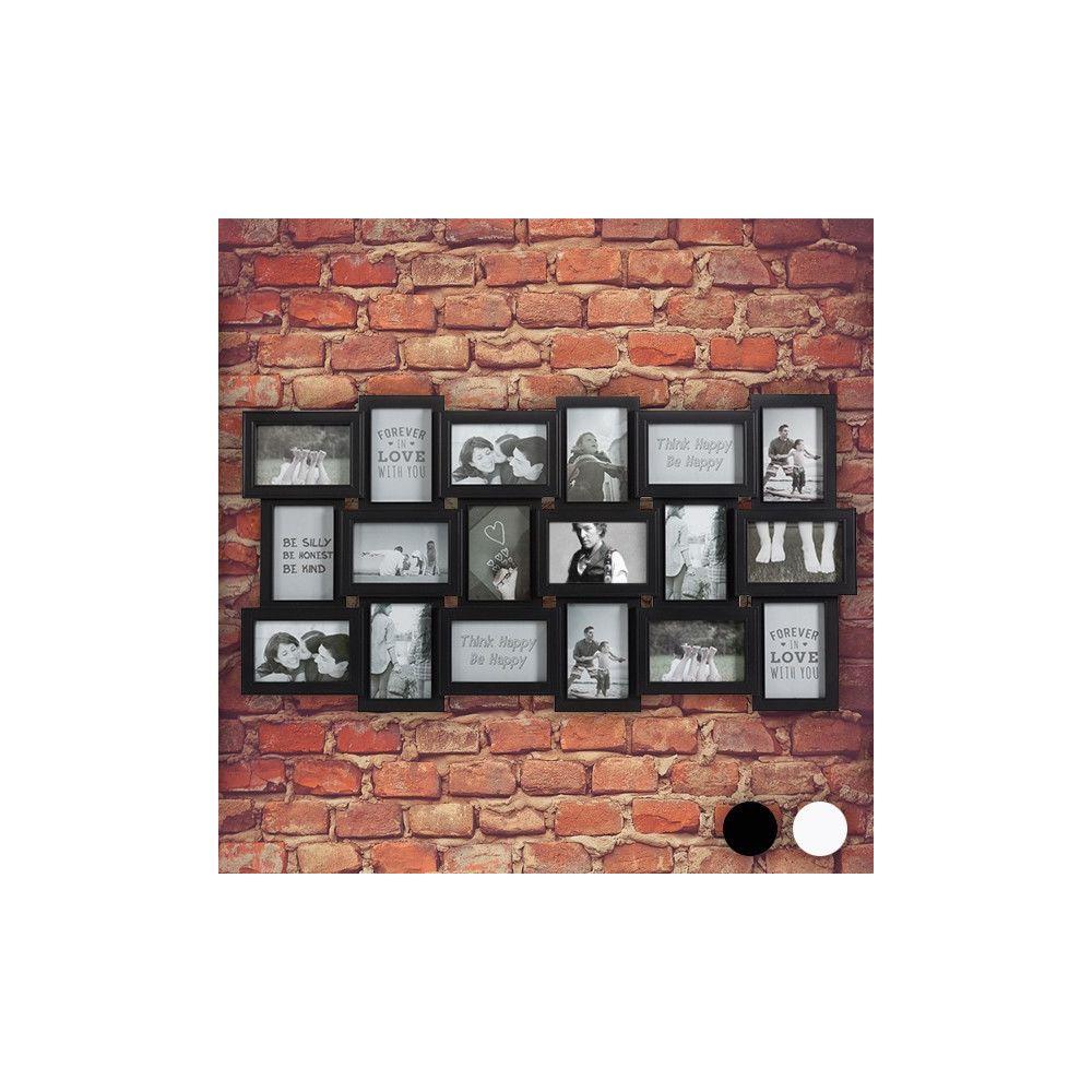 Totalcadeau Cadre-photos XXL pour 18 photos pêle-mêle Couleur - Noir