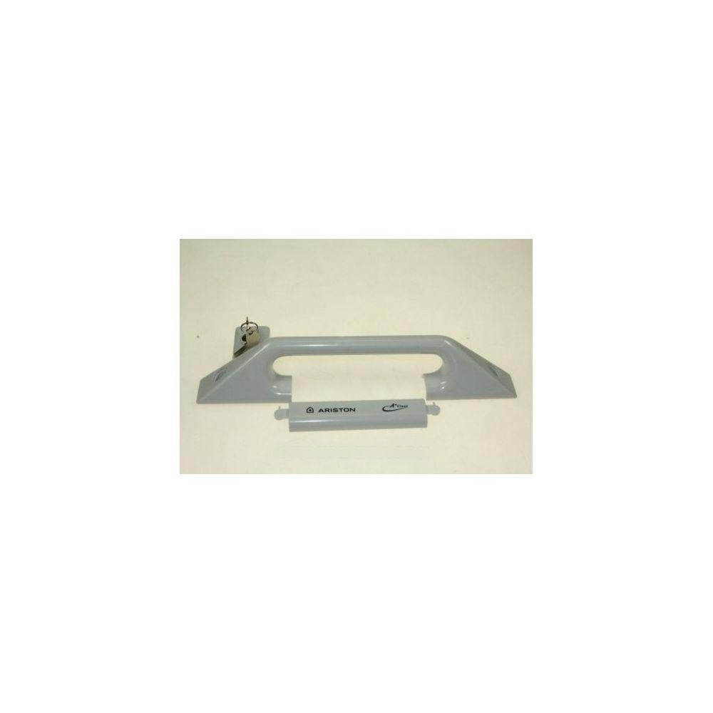 Hotpoint Poignee de porte grise pour congelateur ariston