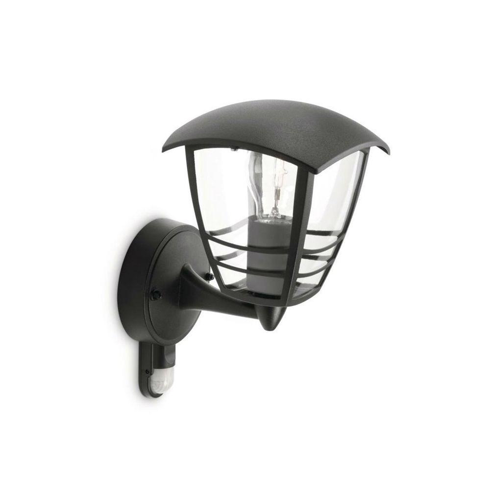 Philips CREEK-Applique d'extérieur Montante avec Détecteur Métal H25cm Noir Philips