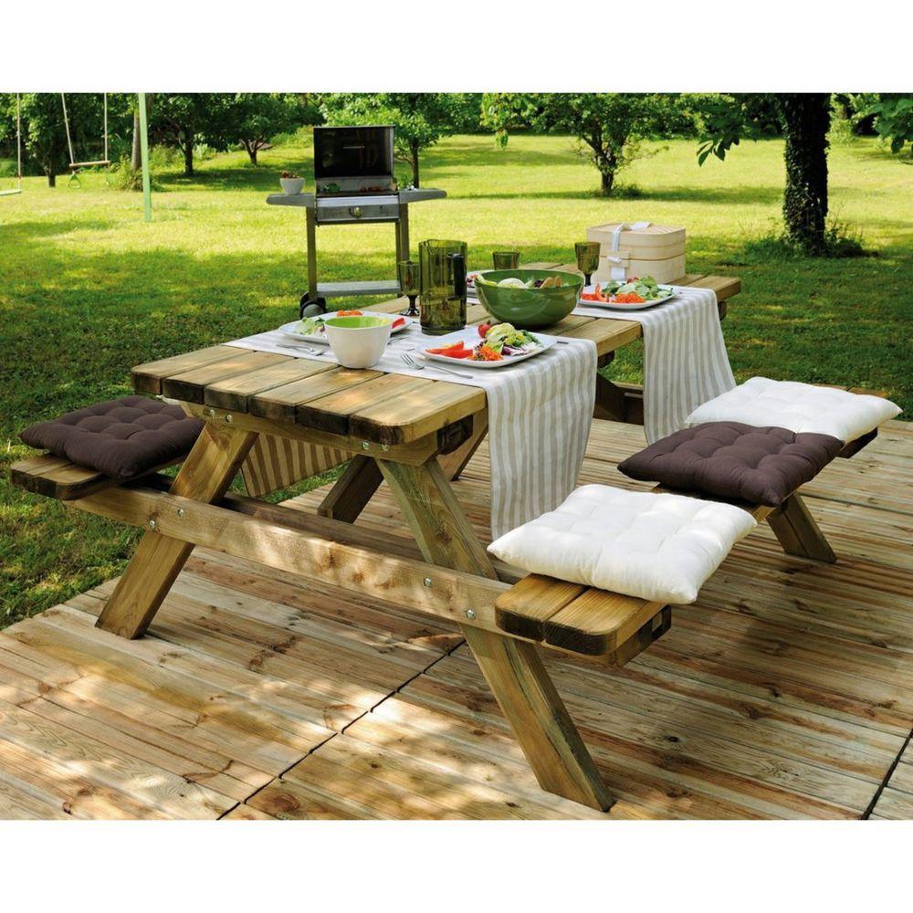 Jardipolys - ROBUSTE - Table pique-nique - L. 9 cm