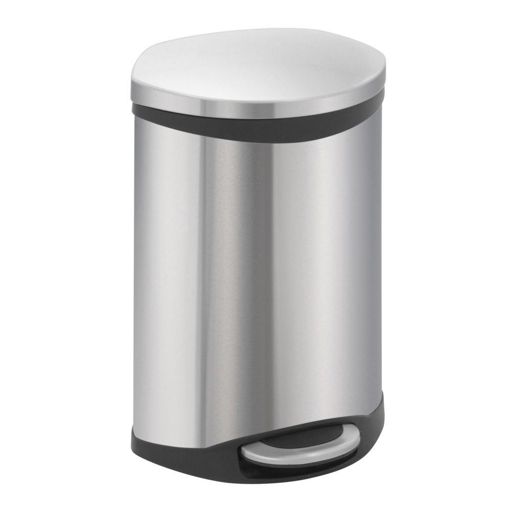 Eko Poubelle Shell Bin 10L Inox Mat, EKO