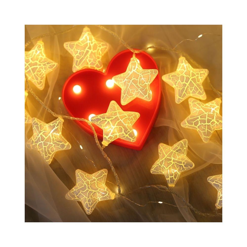 Wewoo Guirlande LED 3m étoile fissurée prise USB romantique chaîne vacances lumière, 20 LEDs adolescente Style chaleureuse fée