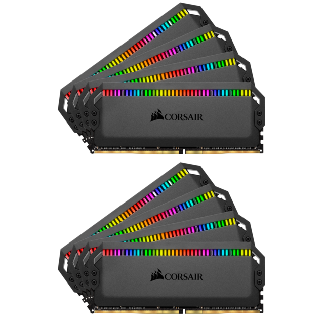 Corsair - DOMINATOR PLATINUM RGB BLACK 64 Go (8x8 Go) 3600Mhz CL18 - Corsair