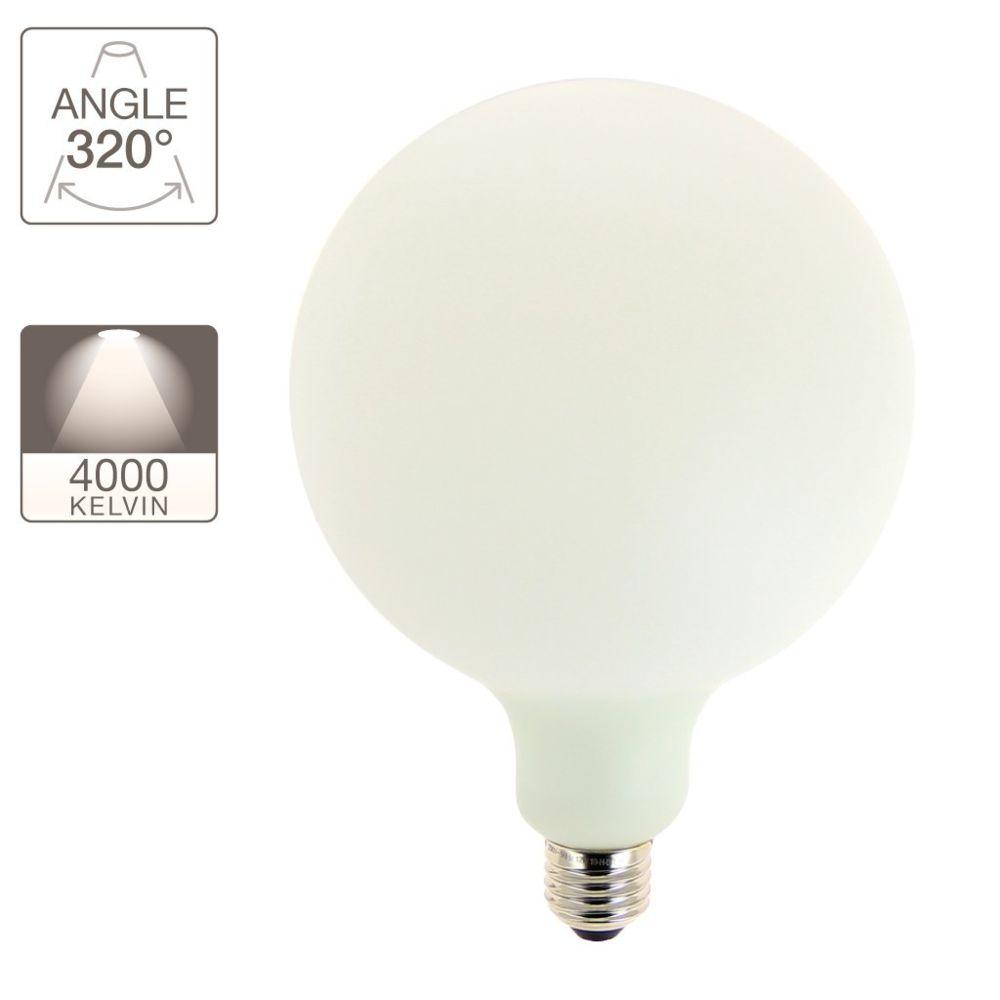 Xanlite Ampoule déco éclairante opaline, culot E27, 12W cons. (100W eq.), blanc neutre (4000K)