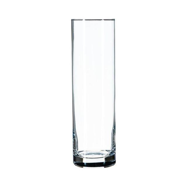 LINDU Vase en Verre Droit Transparent 10 * 20cm cylindrique Magasin de Fleurs Appareil d/'/élevage des Fleurs