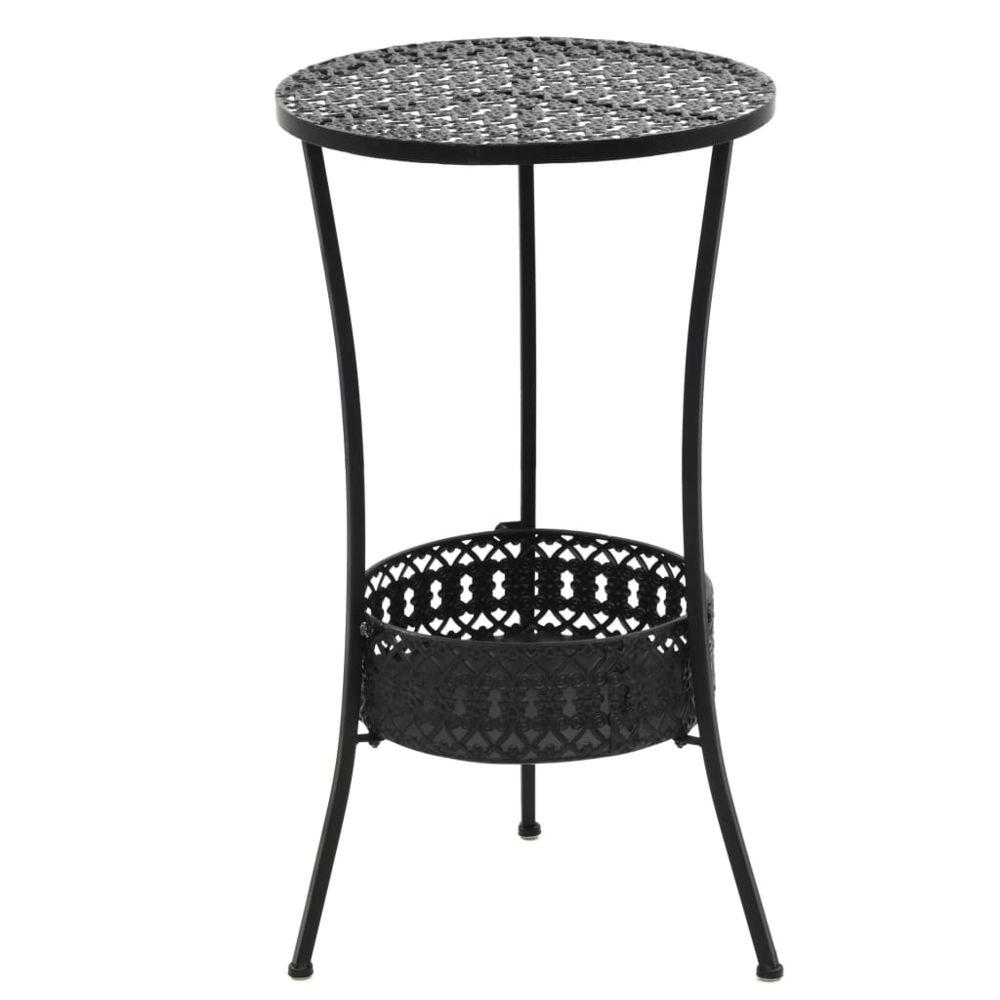 Vidaxl Table de bistro Style vintage Ronde Métal 40 x 70 cm Noir - Meubles de jardin - Tables d'extérieur   Noir   Noir