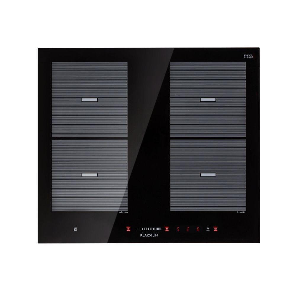 Klarstein Klarstein Virtuosa Flex 60 Table de cuisson à induction 4 zones modulables - 7200W - vitroceramique noire