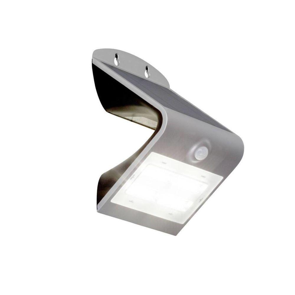 Brilliant DEV - Applique LED d'extérieur solaire avec Détecteur Argent H21cm - Luminaire d'extérieur Brilliant designé par
