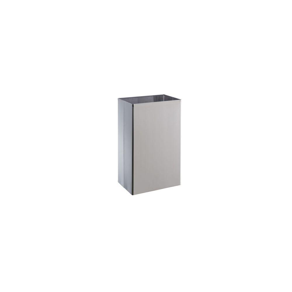 Medial Corbeille BASIC capacité 25 litres inox brillant 300 x 200 x 500 mm