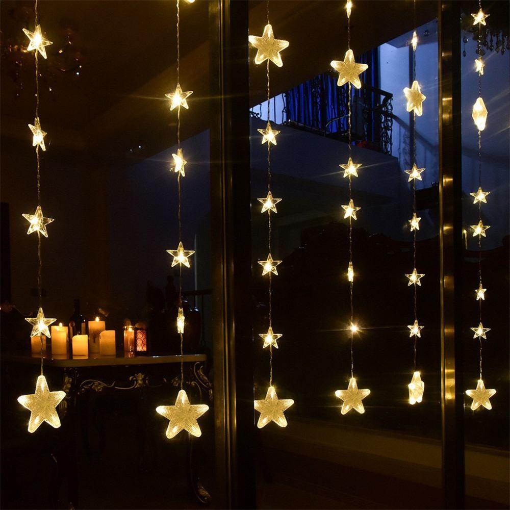 Generic Étoile Rideau de lumière LED Pentagram chaîne de mariage Décoration