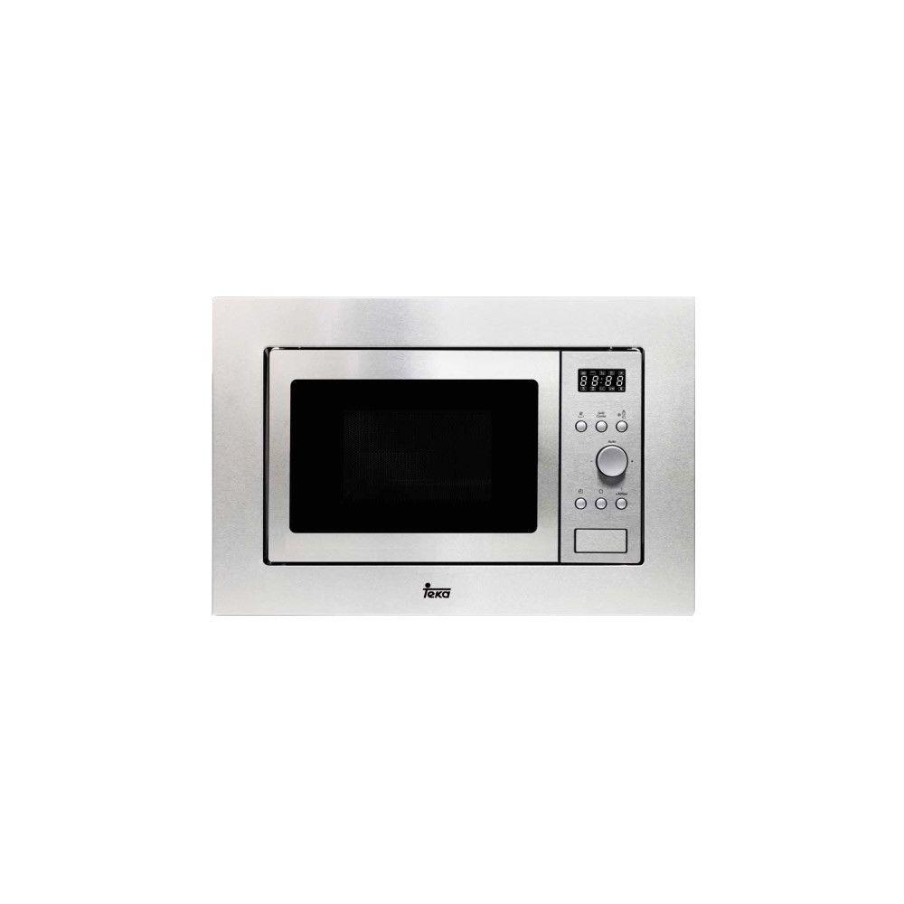 Totalcadeau Micro ondes encastrable avec grill 20 L 800W Acier inoxydable - Plateau tournant et Grill intégré