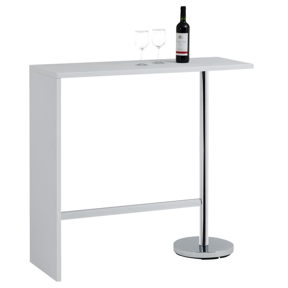Idimex Table haute de bar RICARDO, blanc mat
