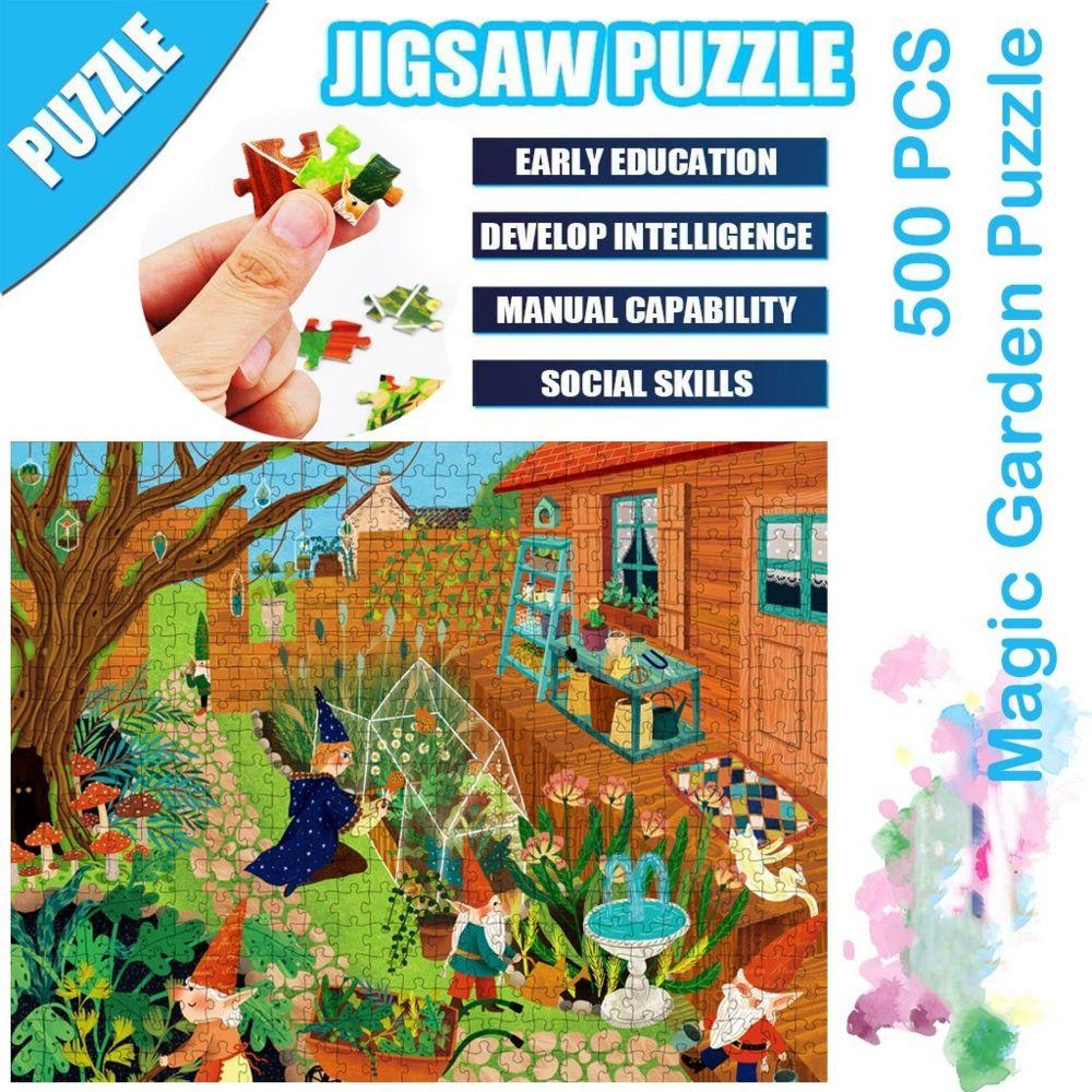 Generic Science Cartoon Magic Garden Puzzle 500 pièces éducatif Puzzle Game Toys